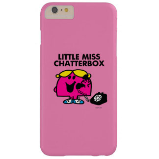 Little Miss Chatterbox & Black Telephone Barely There iPhone 6 Plus Case