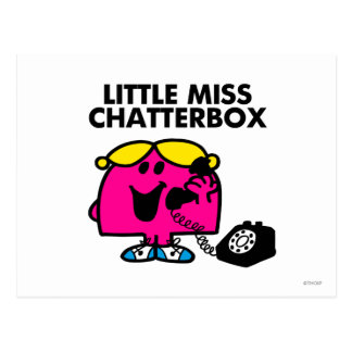 Little Miss Chatterbox & Black Telephone Postcard