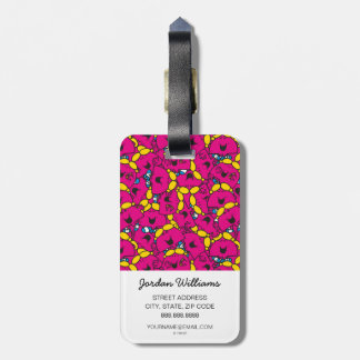 Little Miss Chatterbox | Bright Pink Pattern Luggage Tag