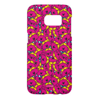 Little Miss Chatterbox | Bright Pink Pattern Samsung Galaxy S7 Case