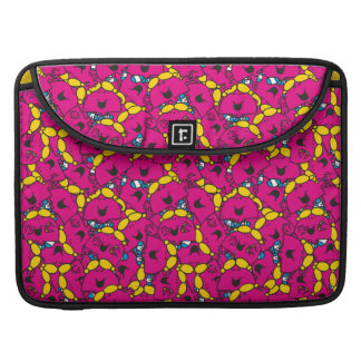 Little Miss Chatterbox   Bright Pink Pattern Sleeve For MacBooks