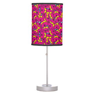 Little Miss Chatterbox | Bright Pink Pattern Table Lamp