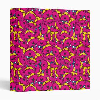 Little Miss Chatterbox | Bright Pink Pattern Vinyl Binder