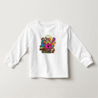 Little Miss Chatterbox & Colorful Swirls Toddler T-shirt