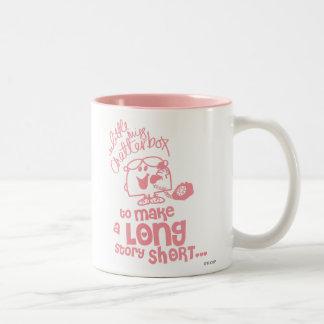 Little Miss Chatterbox | Long Story Short Two-Tone Coffee Mug