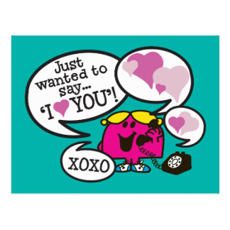 Little Miss Chatterbox | Valentine Postcard
