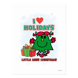 Little Miss Christmas - I Love Holidays Postcards