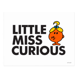 Little Miss Curious | Black Lettering Postcard
