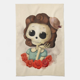 Little Miss Death and Roses Towel