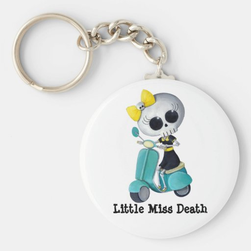 Little Miss Death on Scooter Key Chains