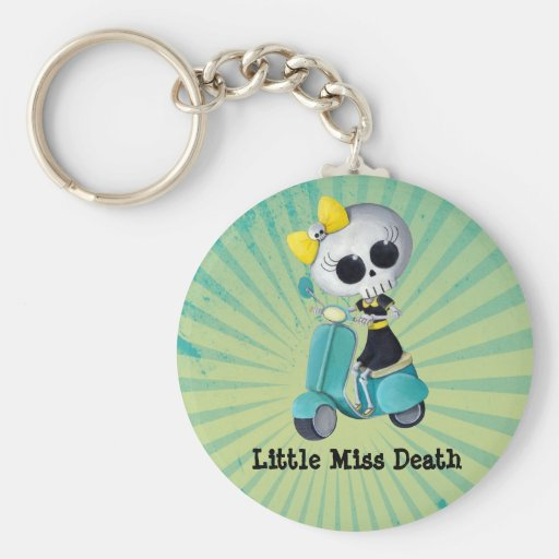Little Miss Death on Scooter Keychains