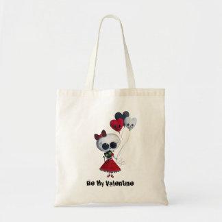 Little Miss Death Valentine Budget Tote Bag