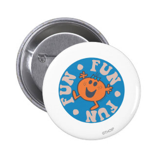 Little Miss Fun Fun Fun 2 Inch Round Button