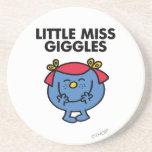 Little Miss Giggles | Black Lettering Beverage Coasters