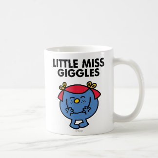 Little Miss Giggles   Black Lettering Classic White Coffee Mug