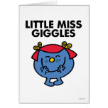 Little Miss Giggles | Black Lettering Greeting Card