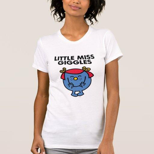Little Miss Giggles | Black Lettering T Shirt