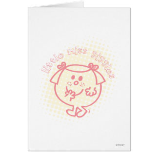 Little Miss Giggles Coral Patch Greeting Cards