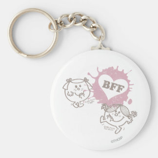 Little Miss Giggles & Little Miss Sunshine   BFFs Basic Round Button Keychain