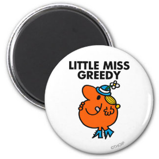 Little Miss Greedy Licking Her Lips Magnet