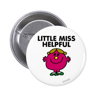 Little Miss Helpful | Black Lettering 2 Inch Round Button