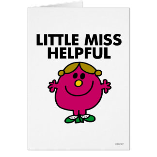 Little Miss Helpful | Black Lettering Greeting Card