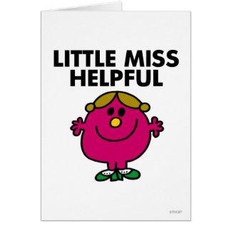 Little Miss Helpful | Black Lettering Greeting Card