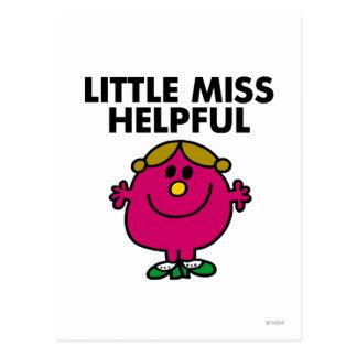 Little Miss Helpful Classic Post Card