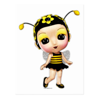 Little Miss Lady Bumblebee Postcard