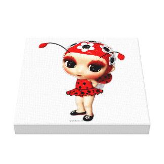 Little Miss Ladybug Canvas Print