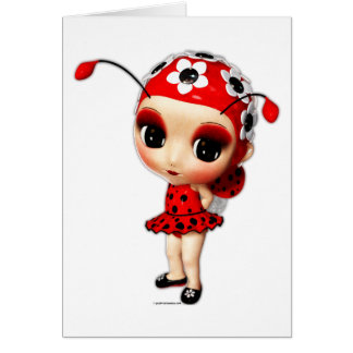Little Miss Ladybug Card