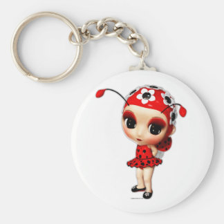 Little Miss Ladybug Keychain