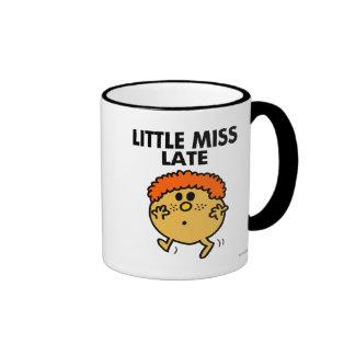 Little Miss Late | Black Lettering Ringer Coffee Mug