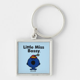 Little Miss | Little Miss Bossy is So Bossy Silver-Colored Square Keychain