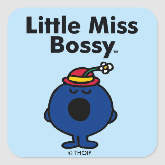Little Miss | Little Miss Bossy is So Bossy Square Sticker