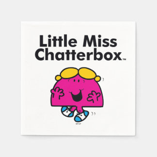 Little Miss | Little Miss Chatterbox is So Chatty Disposable Napkins