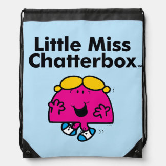 Little Miss | Little Miss Chatterbox is So Chatty Drawstring Bag
