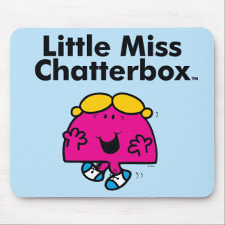Little Miss | Little Miss Chatterbox is So Chatty Mouse Pad