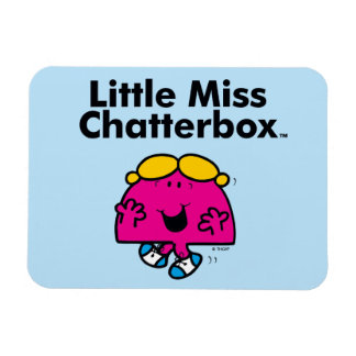 Little Miss | Little Miss Chatterbox is So Chatty Rectangular Photo Magnet