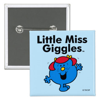 Little Miss | Little Miss Giggles Likes To Laugh 2 Inch Square Button