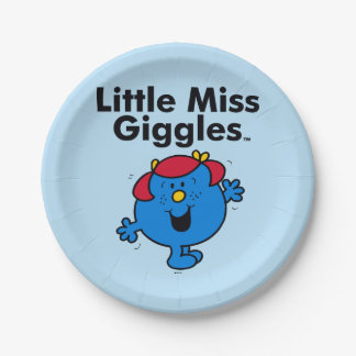Little Miss | Little Miss Giggles Likes To Laugh 7 Inch Paper Plate