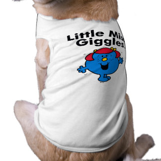 Little Miss   Little Miss Giggles Likes To Laugh Dog Shirt
