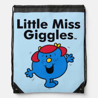 Little Miss | Little Miss Giggles Likes To Laugh Drawstring Bag