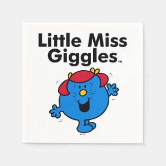 Little Miss | Little Miss Giggles Likes To Laugh Paper Napkin
