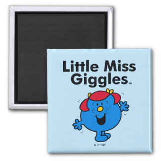 Little Miss | Little Miss Giggles Likes To Laugh Square Magnet