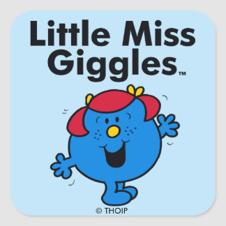 Little Miss | Little Miss Giggles Likes To Laugh Square Sticker
