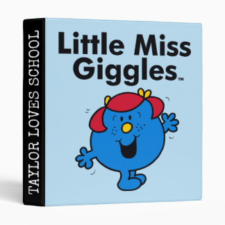 Little Miss | Little Miss Giggles Likes To Laugh Vinyl Binders
