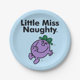 Little Miss | Little Miss Naughty is So Naughty Paper Plate