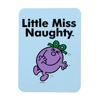Little Miss | Little Miss Naughty is So Naughty Rectangular Photo Magnet
