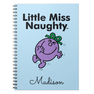 Little Miss | Little Miss Naughty is So Naughty Spiral Notebook